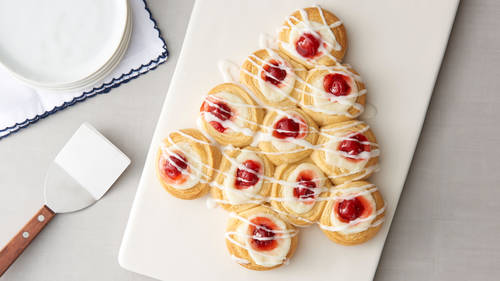 Cherry-Almond-Cream Cheese Crescent Danish Tree