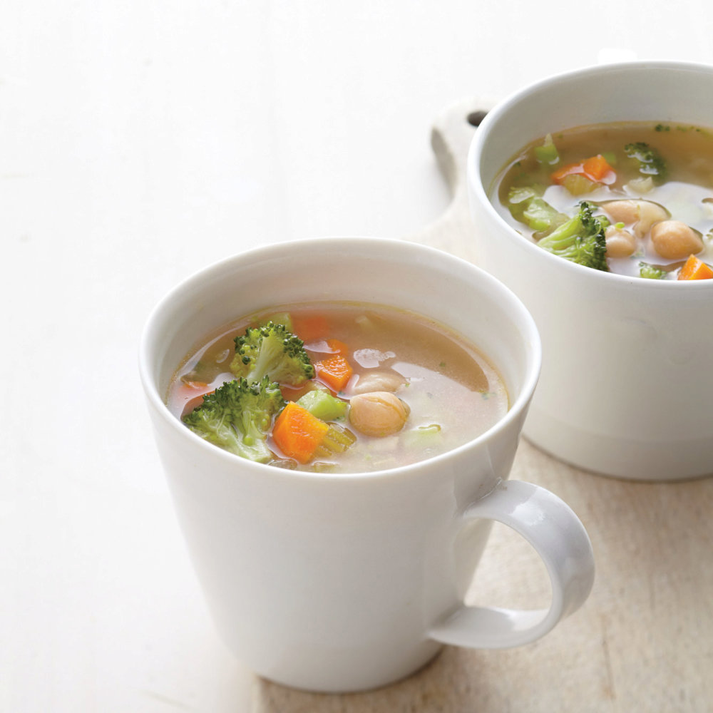 Breakfast Vegetable-Miso Soup with Chickpeas
